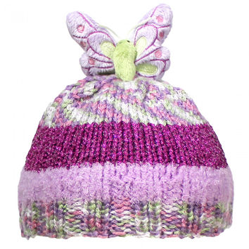 DMC Top This Metallic Butterfly Hat Kit Crochet or Knit