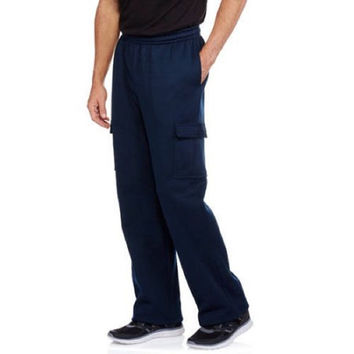 Reactive Men's Fleece Cargo Pant, Navy, Medium