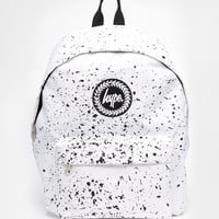 Hype White Speckle Backpack