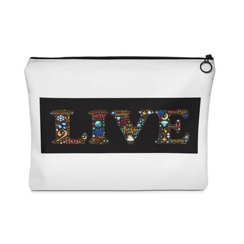 The law of Attraction Live life Carry on Pouch