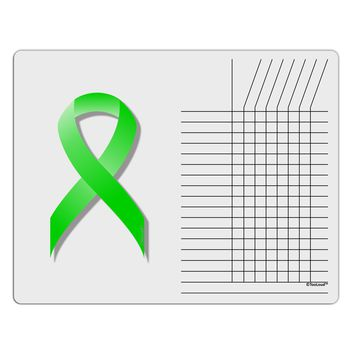 Lyme Disease Awareness Ribbon - Lime Green Chore List Grid Dry Erase Board