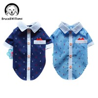 Bruce&Williams Ship Print Shirt Costume Dog Clothes The Spring Festival T-shirt Autumn Spring Clothing For Pet Dogs Cat DC0141