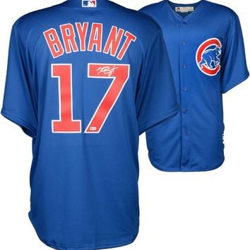 Kris Bryant Signed Autographed Chicago Cubs Baseball Jersey (MLB Authenticated)