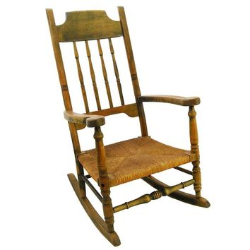 Pre-owned Petite Vintage Wooden Rocking Chair