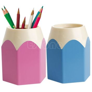 Creative kawaii Pen Pencil Makeup Brush Holder Stationery Container Desk Accessories