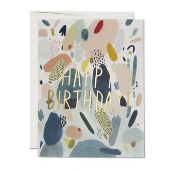 RED CAP CARDS ABSTRACT BIRTHDAY CARD