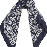 Maje Printed silk-twill scarf – 60% at THE OUTNET.COM