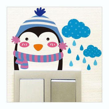 Best penguin wall decor products on wanelo for Best brand of paint for kitchen cabinets with nursery wall art etsy