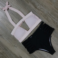 Push Up Bikinis Sexy Bandage Beach Swimsuit Beach Bathing Suit