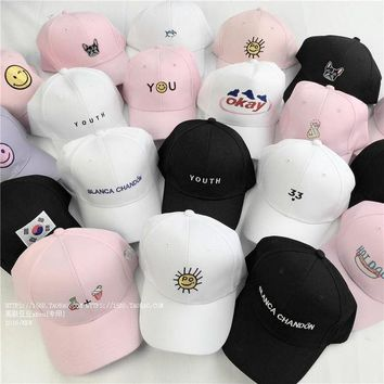 DCCKDZ2 summer caps style lady korean pink Dad Hat white polo caps 2017 girls golf sport baseball caps hats for women female