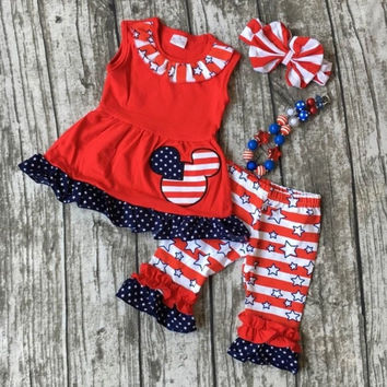 Minnie Mouse Stripes and Stars Outfit