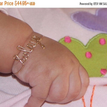 ON SALE 20% OFF Baby Bracelet Personalized-Baby Bracelet-Baby Gift-Personalized-Baptism-Bracelet-Personalized Jewelry-Name Bracelet-Personal