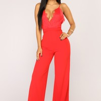 Stand Your Ground Jumpsuit - Red
