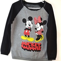 Disney  Women Mickey & Minnie Swatshirt