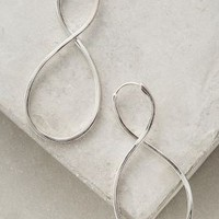 Carrie K. Sculpted Infinity Earrings in Silver Size: One Size Earrings