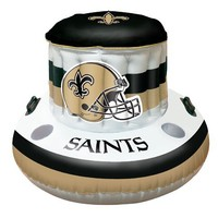 New Orleans Saints Inflatable Floating Cooler for Swimming Pool