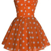40% OFF! Pin-Up Mini Orange Party Dress