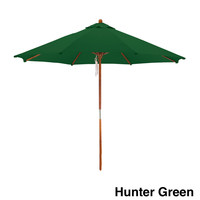 Michael Anthony Furniture 9Ì_Ì_åÈ Wood Frame Green Market Umbrella - Hunter Green