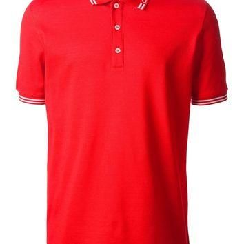 Salvatore Ferragamo Contrast Trim Polo Shirt