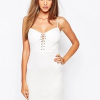 Missguided Lace Up Mini Dress