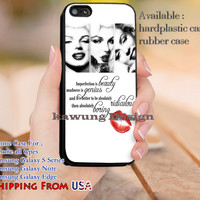 Imperfection is Beauty Marilyn Monroe Quotes iPhone 6s 6 6s+ 5c 5s Cases Samsung Galaxy s5 s6 Edge+ NOTE 5 4 3 #music #mlyn dl12