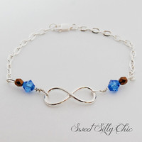 Ravenclaw Forever Bracelet or Anklet, Blue and Bronze Infinity Bracelet, Harry Potter Inspired Jewelry