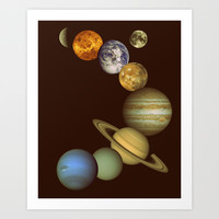 The Solar System Art Print by GalaxyDreams
