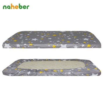 LifeTree Cotton Baby Crib Fitted Sheet Super Soft Newborn Infant Cot Sheets Baby Bed Mattress Cover Bed Linen Protecter