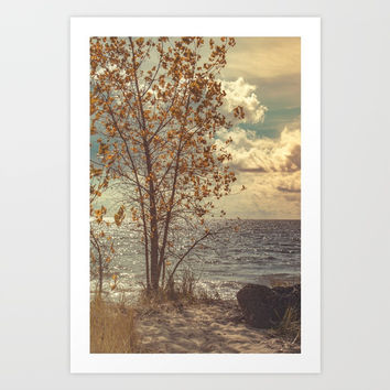 When You Start To Fall Art Print by Faded  Photos