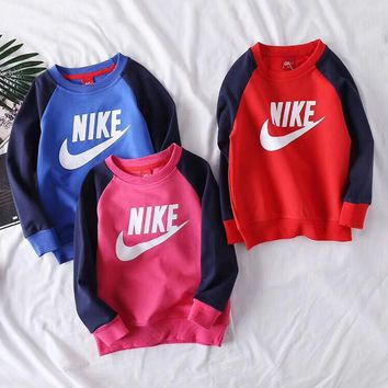 Nike Girls Boys Children Baby Toddler Kids Child Fashion Casual Top Sweater Pullover