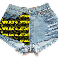 The Star Wars Logo HighWaisted Shorts by Shopwunderlust on Etsy