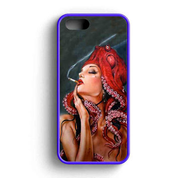 Octopus Tattooed Sigaret iPhone 5 Case iPhone 5s Case iPhone 5c Case