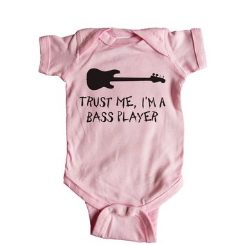Keep Calm I'm The Bassist Baby Onesuit
