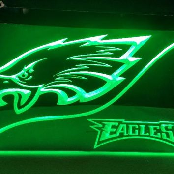 b-226 Philadelphia Eagles beer bar pub club 3d signs LED Neon Light Sign man cave