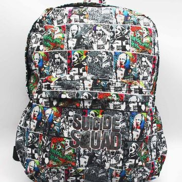 Suicide Squad Harley Quinn Laptop Backpack Hot DC Comics Batman Full Character Shoulder School Bag Unisex Student Bags Bookbag
