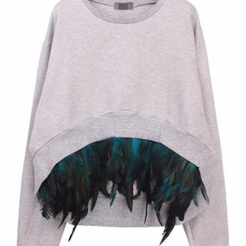 Feather Pullover Sweater