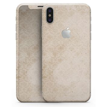 Micro Faded Tan Damask Pattern - iPhone X Skin-Kit