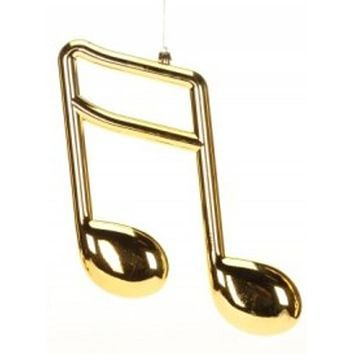 "12"" Royal Symphony Glamourous Gold Musical Sixteenth Note Christmas Ornament"