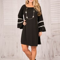 Pink Coconut Boutique | A Touch of Sass and Class Tunic/Dress - Black