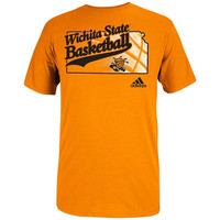adidas Wichita State Shockers State of Basketball T-Shirt - Gold