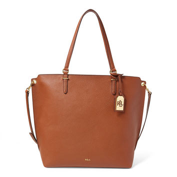 Medium Faux-Leather Abby Tote