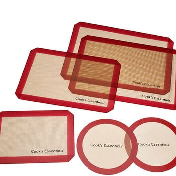 CooksEssentials 6-piece Silicone Baking Mat Set — QVC.com