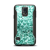 The Aqua Green Glimmer Samsung Galaxy S5 Otterbox Commuter Case Skin Set