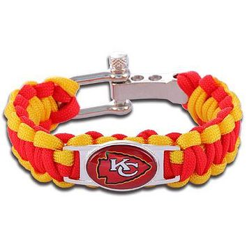 NFL - Kansas City Chiefs Custom Paracord Bracelet
