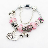 Pink Sweet Mother Pandora Style Bracelet Best Gift Idea  [10893371663]