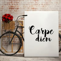 Carpe diem Dorm Decor, Typography print, Dictionary definition art, dorm decor, coffee print, Wall Art print, Typography Poster