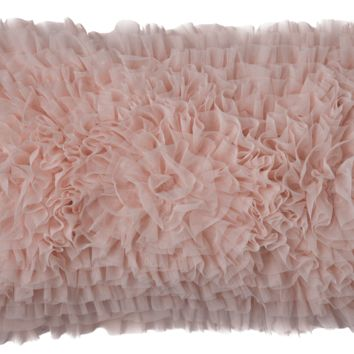 Coco Blush Sheer Rectangle Pillow by Lili Alessandra