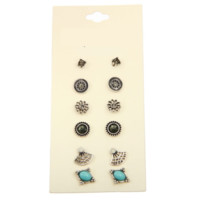 6 Pairs of Earrings, Boho Set