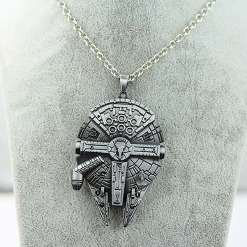 Necklace in the form of a starship Brother gift Movie Boyfriend gift Gift for him.