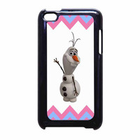 Olaf Disney Frozen Blue Pink Chevron iPod Touch 4th Generation Case